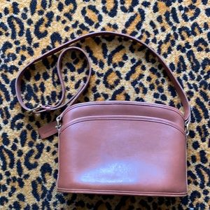 Vintage 80s Coach saddle brown leather bag purse